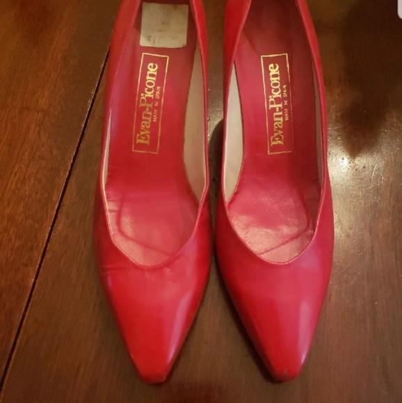 Evan Picone Shoes - Red Evan Picone 80s Vintage Heels